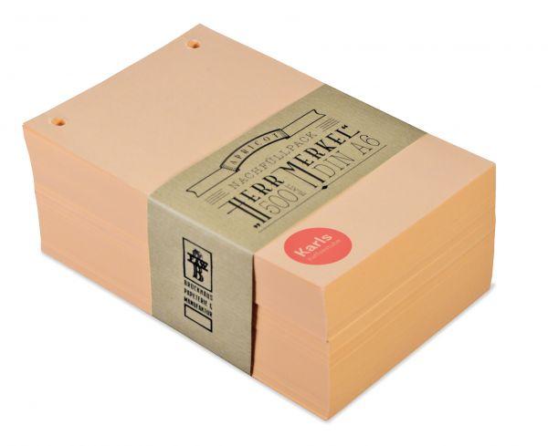 Der Nachfüllpack Apricot enthält 500 Blatt gut beschreibbares Papier.